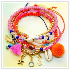 Rocailles armbandjes op elastiek