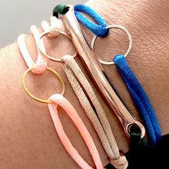 Satijnkoord armbandje