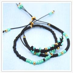Miyuki armbandjes zwart mint