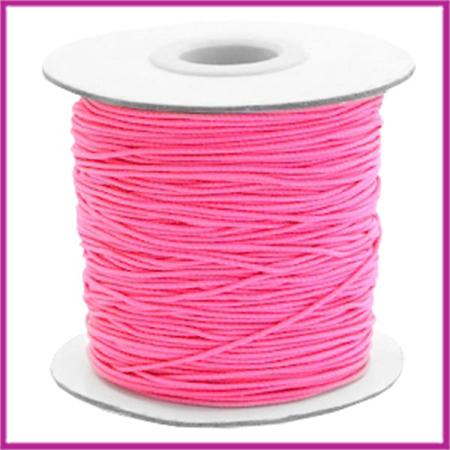 Gekleurd elastisch draad Ø0,8mm per meter Hot pink