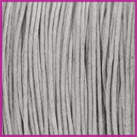 Waxkoord (katoen) Ø1mm light grey per meter