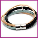 DIY pakket armband black brown - meadow green_