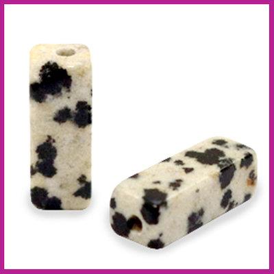 Natuursteen kraal tube Spotted stone greige black