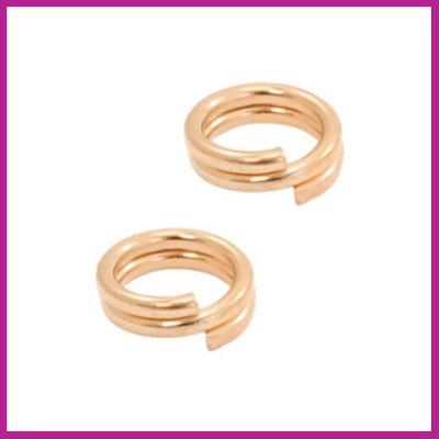 DQ metaal splitring Ø5mm Rosegold
