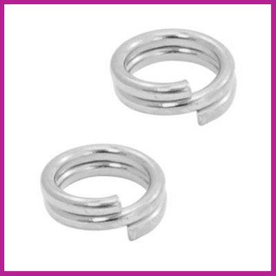 DQ metaal splitring Ø7mm Antiek zilver