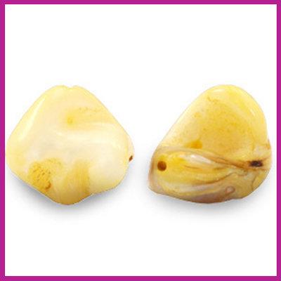 Schelp kraal nugget yellow