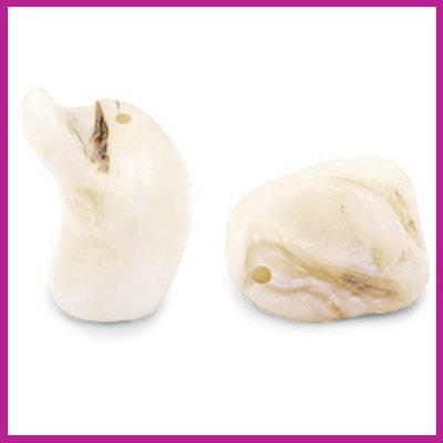Schelp kraal nugget off white