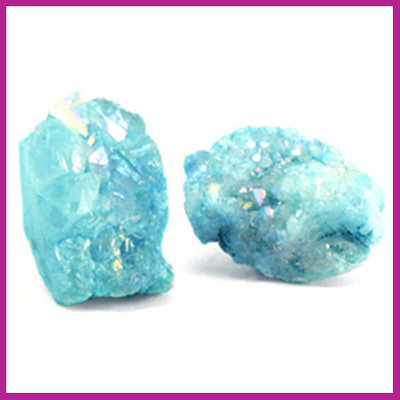 Chipstone kraal crystal quartz turquoise blue