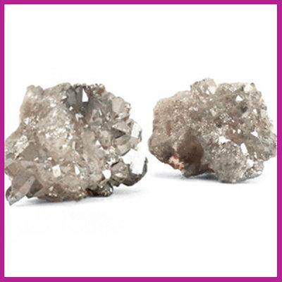 Chipstone kraal crystal quartz grey