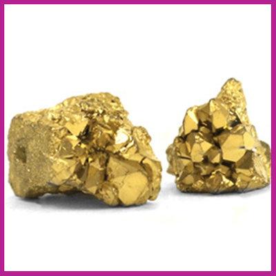 Chipstone kraal crystal quartz gold