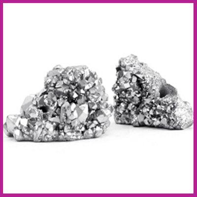 Chipstone kraal crystal quartz light grey