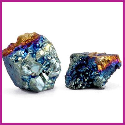 Chipstone kraal crystal quartz ocean blue AB