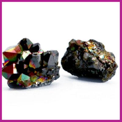 Chipstone kraal crystal quartz black AB