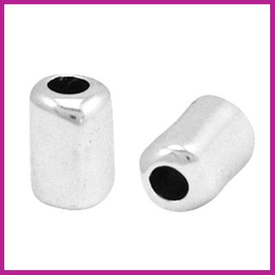 DQ metaal tube 10x7mm Antiek zilver