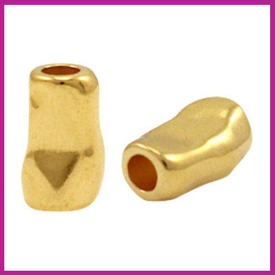 DQ metaal tube 11x7mm Goud