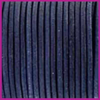 DQ leer rond 2 mm Antique dark blue per 50cm