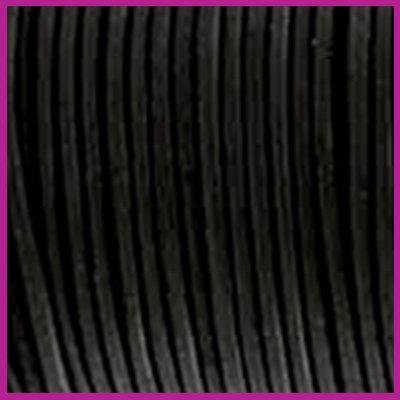 DQ leer rond 2 mm zwart per 50cm