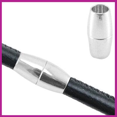 Basic quality metalen magneetslot Ø5mm Antiek Zilver