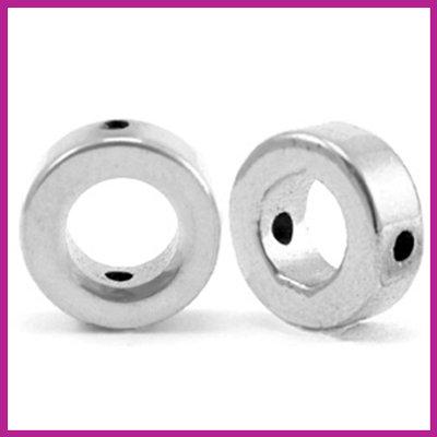 Hematiet kraal cirkel 8mm Silver grey