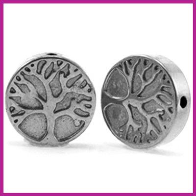 Hematiet kraal levensboom 10mm Anthracite grey