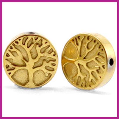 Hematiet kraal levensboom 10mm Gold