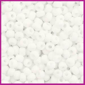 Miyuki rocailles 8/0 opaque matte white 402F