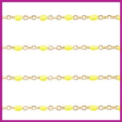 (RVS) Stainless steel jasseron ca. 49cm x 1mm Yellow-goud