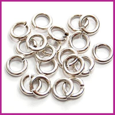 DQ metaal open ringetjes Ø6mm Antiek Zilver