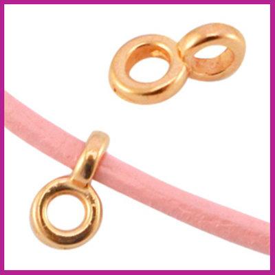DQ metaal hanger / kraal met oog Ø2,2mm Rosegold