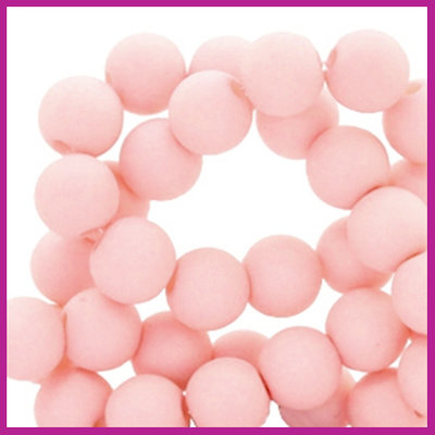 Acryl kraal mat rond 6mm Cosmetic peach