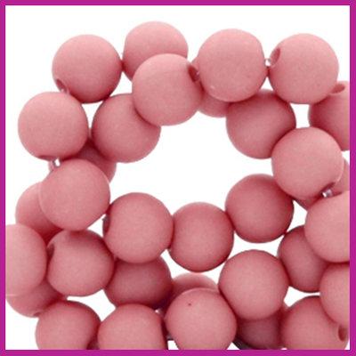Acryl kraal mat rond 6mm Lantana Pink