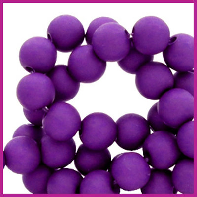 Acryl kraal mat rond 8mm Tillandsia purple