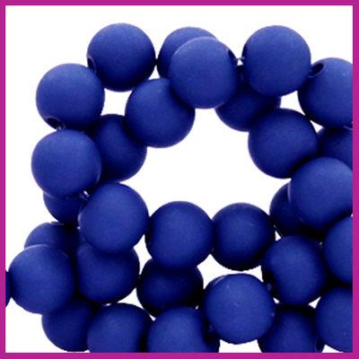 Acryl kraal mat rond 6mm Dark princess blue
