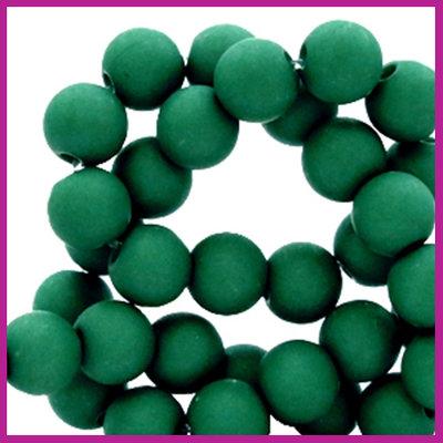 Acryl kraal mat rond 6mm Fir green