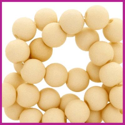 Acryl kraal mat rond 8mm Naturel beige