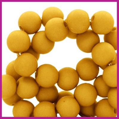 Acryl kraal mat rond 6mm Golden yellow