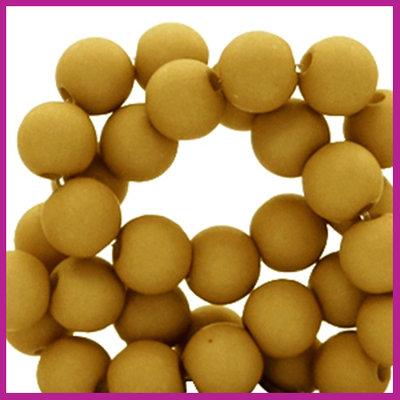 Acryl kraal mat rond 6mm Golden brown curry
