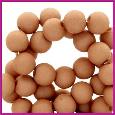 Acryl kraal mat rond 6mm Nut brown