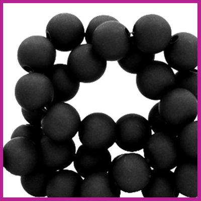 Acryl kraal mat rond 8mm Black
