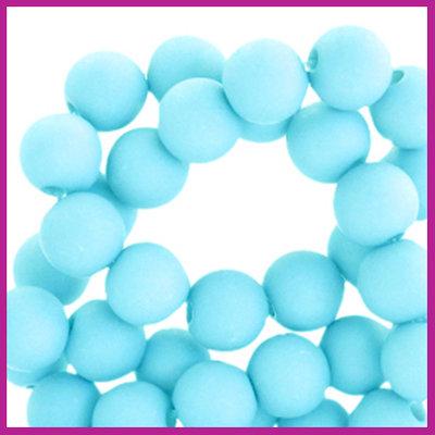 Acryl kraal mat rond 6mm Baby aqua blue