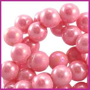 Glaskraal Diamond Coated Ø6mm Vintage roze
