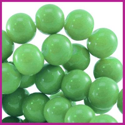 Glaskraal baked - keramisch Ø6mm Bright groen
