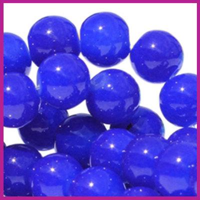 Glaskraal Ø6mm opaal vintage Donker blauw