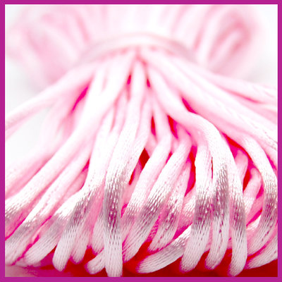 Satijnkoord Ø2 mm Light pink