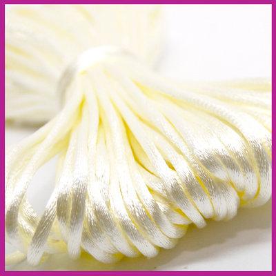 Satijnkoord Ø2 mm Creme white