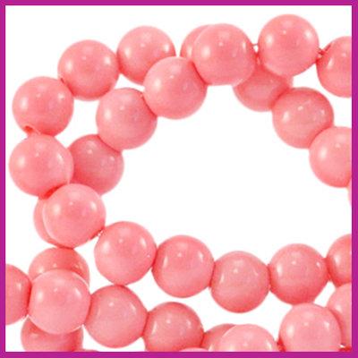 Glaskraal opaque Ø6mm sweet fruit dove pink