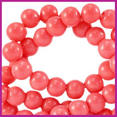 Glaskraal opaque Ø6mm sweet virtual pink