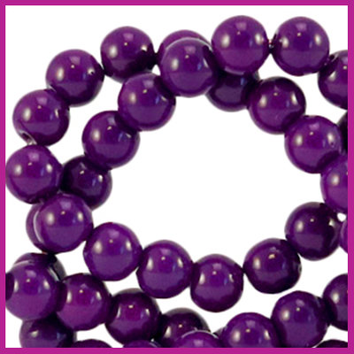 Glaskraal opaque Ø6mm acai purple