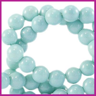 Glaskraal opaque Ø6mm eggshell blue