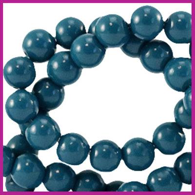 Glaskraal opaque Ø6mm gibraltar sea blue